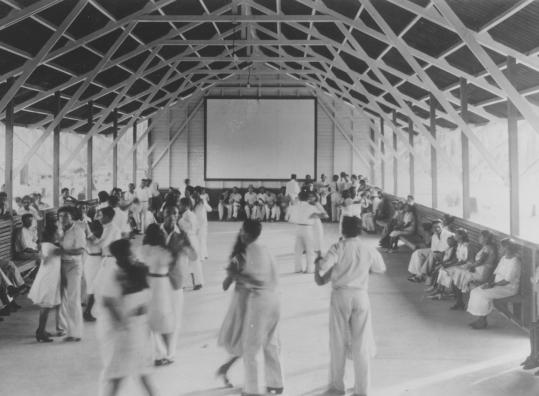 Fordlandia, which included this dance hall, was set up to grow plantation rubber in Brazil to be used in car manufacturing.