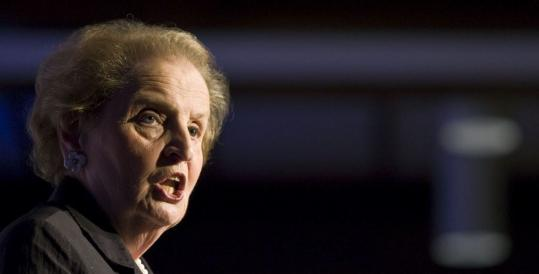 Madeleine Albright, former secretary of state, said she hopes the institute created in her honor at Wellesley College will produce graduates who become both diplomats and international leaders.