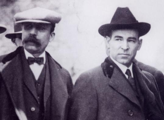 Bartolomeo Vanzetti (left) and Nicola Sacco, Italian-born anarchists, were executed in 1927 for murder and robbery.