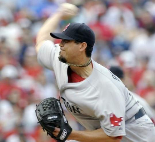 Josh Beckett's recent run of domination ended with a dud (6 earned runs, 11 hits).