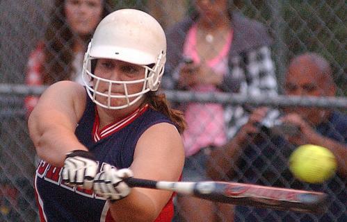 Ashland's Katrina Capobianco takes a swing.