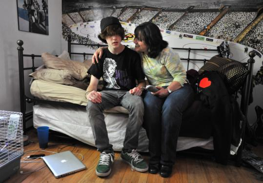 Linda Rubenstein, who takes a Genzyme drug to treat Gaucher disease, said she would not have been able to have her son, Zach, (left) without the medication.