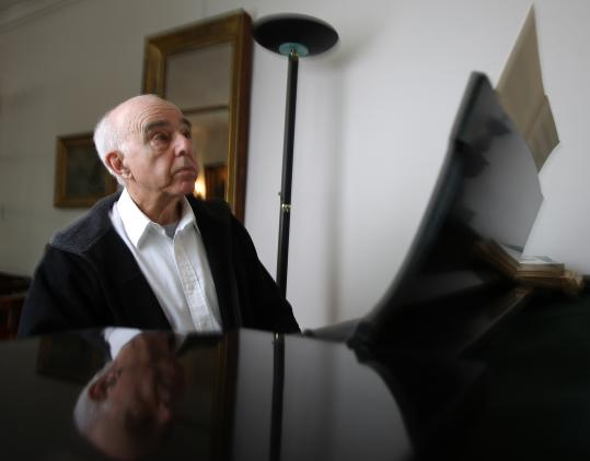 In his Medford home, Yehudi Wyner, 80, recalls his career's expanse, studying, singing, playing, composing, and the influence on him of his father's Yiddish art songs.