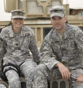 Jennifer and Nathan Williams have lived apart for much of their marriage because of deployments.