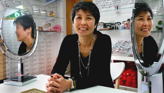 Despite the economy, Miri Park opened up a Sharon optometry shop in March.
