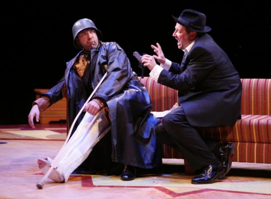Patrick Wetzel (left) and Scott Davidson starred in the North Shore Music Theatre's 'The Producers' this spring.