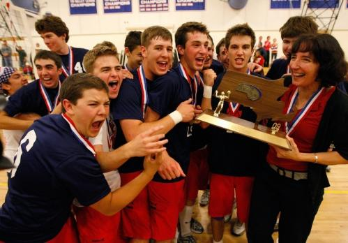 There's no question the L-S boys' volleyball team remembered how the 2008 season ended. 'It was in the back of our heads, the revenge factor,' said coach Bunny McClung. St. John's Prep beat L-S in '08. But in '09, the story was different. The Warriors beat the Prep, 3-0, jumping on top of the defending champ in every game and never letting up, led by Player of the Year Will Jenkinson. 'I just think we had a chance to execute our game plan exactly how we wanted,' said McClung. That plan resulted in wins of 25-13, 25-18, and 25-19. And a little revenge.