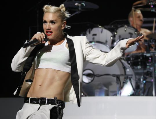 No Doubt singer Gwen Stefani had her tough-chick style - and her postnatal abs - on display at the Comcast Center.