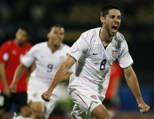 Clint Dempsey chipped in with a goal as the US got past Egypt - and Italy - to advance to the Confederations Cup semifinals.