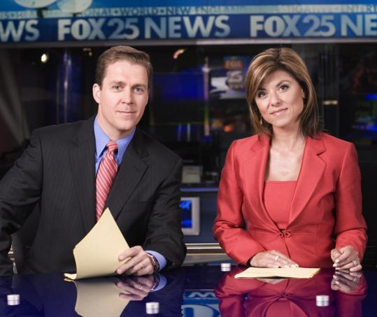 Mark Ockerbloom and Maria Stephanos will coanchor Fox 25's new newscast at 6 p.m.
