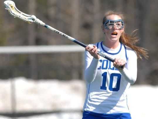 Hingham native Kate Sheridan is the only four-time All-American in the history of the Colby College women's lacrosse program.