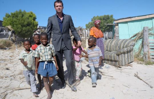 In 'The Philanthropist,' James Purefoy portrays a wealthy man who travels the developing world to be 'eyeball to eyeball' with his beneficiaries.