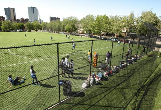 The scoreboard doesn't work, but Madison Park's field is still one of the city's better ones.