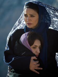 "Shohreh Aghdashloo and Mozhan Marnò in ""The Stoning of Soraya M.''"