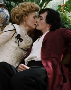 "Michelle Pfeiffer and Rupert Friend star in the period piece ""Cheri,'' a meditation on age and beauty."
