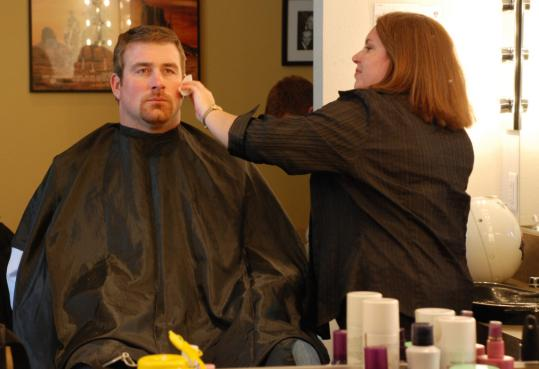 The Patriots' Matt Light participates in Broadcast Boot Camp, which is sponsored by the NFL.