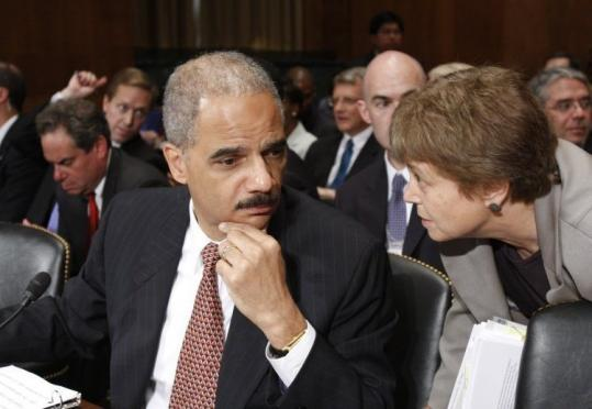 Attorney General Eric Holder testified before the Senate Judiciary Committee on hate crimes legislation yesterday.