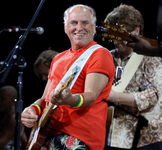 Jimmy Buffett's 50th concert at the Comcast Center (which he still calls Great Woods) revolved reliably around a theme of sand and surf.