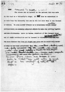 "An early typed draft of the foreword to Chapter 17 of ""A Moveable Feast'' with some changes by Hemingway."