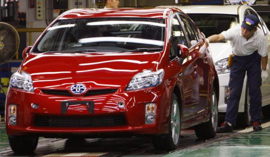 Toyota is considering making its hybrid Prius model at a California plant it has been sharing with General Motors.