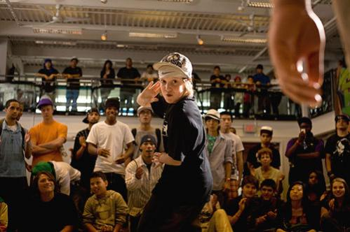 Young talent: Kody, 11, aka Masta K, also competed in the one-on-one popping battle.