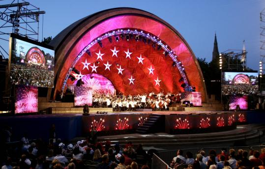Keith Lockhart and the Boston Pops return to the Esplanade for the annual July Fourth celebration.