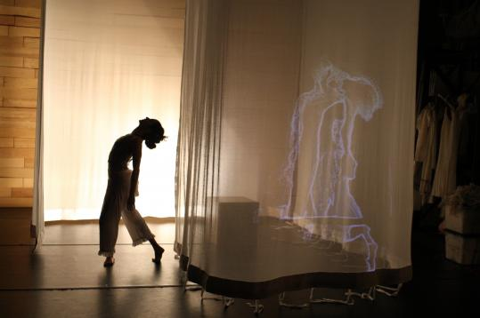 """Media artist-choreographer Nell Breyer and three choreographer-dancers have fused their styles in """"The Disappearing Woman,'' presented by Summer Stages Dance."""