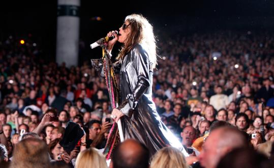 Steven Tyler and Aerosmith played their album 'Toys in the Attic' at the Comcast Center last month.