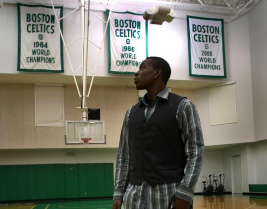 Draft pick Lester Hudson had a banner day at the Celtics practice facility during his introduction yesterday.