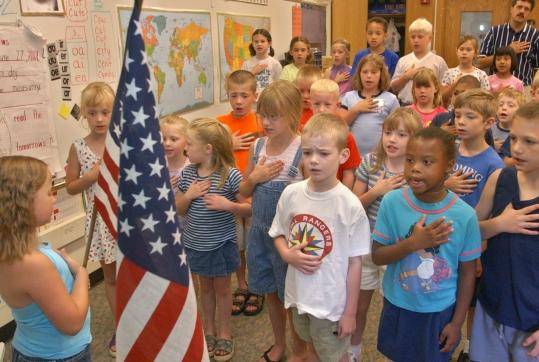 "The author believes the inclusion of the phrase ""under God'' makes the Pledge of Allegiance unconstitutional."
