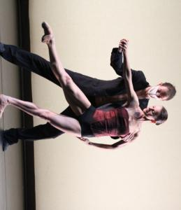 "Gaj Zmavc and Tijuana Krizman in ""Radio and Juliet,'' choreographer Edward Clug's abstract take on Shakespeare."