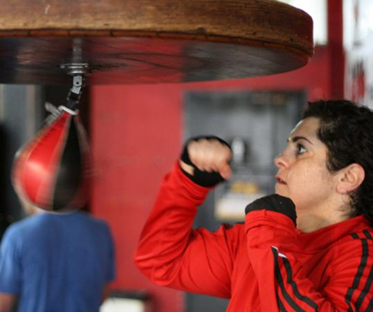 "Sonya Lamonakis is called ""Amtrak'' because she always moves forward in the ring."