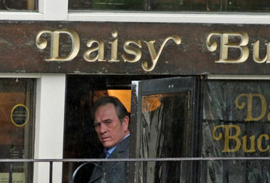 Tommy Lee Jones shot a scene from a movie in a Newbury Street restaurant in May.