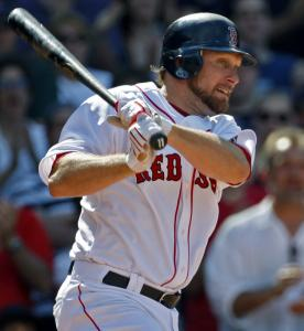 Mark Kotsay's single to right provided a pair of insurance runs as the Red Sox averted a three-game sweep by the Mariners.