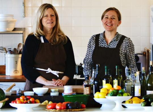 Christopher Hirsheimer (left) and Melissa Hamilton are the proprietors of Canal House, where they cook and style their own dishes and design and sell the resulting cookbooks.