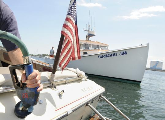 Prices at the gas pumps have begun to reflect the decline in crude oil costs. That should help such boaters as John Mizioch of Salem, who pumped gas into his boat as Diamond Jim passed at Beverly Port Marina yesterday.