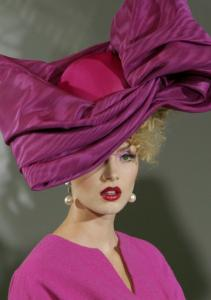 A model presents a creation by British fashion designer John Galliano for Dior's Haute Couture Fall Winter 2009-2010 fashion collection yesterday in Paris.