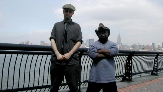 """From left: Filmmaker Rod Webber and the subject of his film, Doug """"Tiny the Terrible'' Tunstall."""
