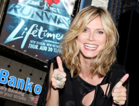 "MARION CURTIS/starpix via apSupermodel Heidi Klum remains as the host for ""Project Runway,'' now on the Lifetime cable channel."