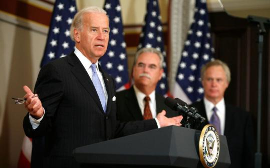 Vice President Joseph Biden announced a deal yesterday with hospital groups to cut Medicare and Medicaid payments by $155 billion over 10 years to help pay for a health overhaul.