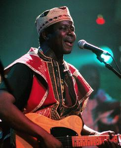 "King Sunny Ade's mellow party music known as juju earned him the nickname ""Minister of Enjoyment.'' The music grew from Yoruba, calypso, West African highlife, and jazz influences."