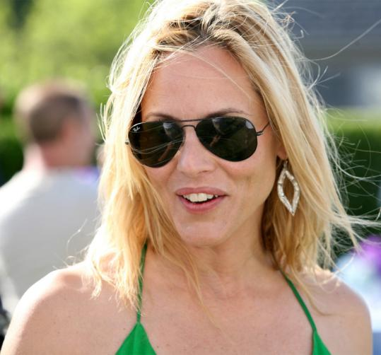 Actress Maria Bello got a picture-perfect day Saturday for Boston Common's party on Nantucket.