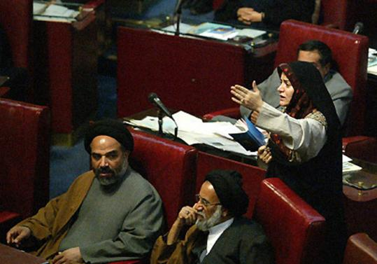 Fatemeh Haghighatjoo addressed the Iranian Parliament in February 2004 with a fiery - and critical - resignation speech.