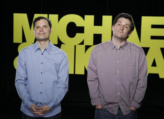 Michael Ian Black (left) and Michael Showalter are alumni of the comedy troupe The State.