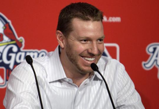 Roy Halladay is grilled at an All-Star Game news conference about whether he'll stay in Toronto, or where he'll end up.