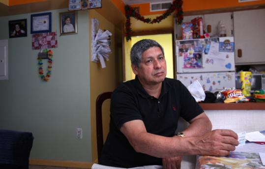 Eugenio Hernandez, 51 and battling prostate cancer, is due to lose his state-subsidized heatlh insurance at the end of this month.