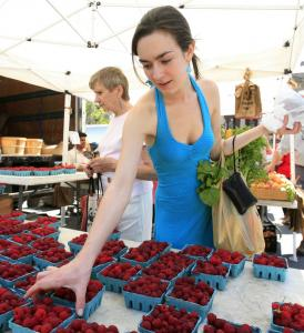 Christina Bunker shopped for raspberries yesterday in New York. Consumer prices shot up in June by the largest amount in 11 months, the Labor Department said yesterday.