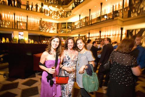 Every day is the new Friday: Darcy Jameson of Belmont, Diana James of Marblehead, and Nadine Fink of Beacon Hill celebrated at the Bastille Day party 'It is fun to have a lot of people here and out on a Tuesday night,' James said.