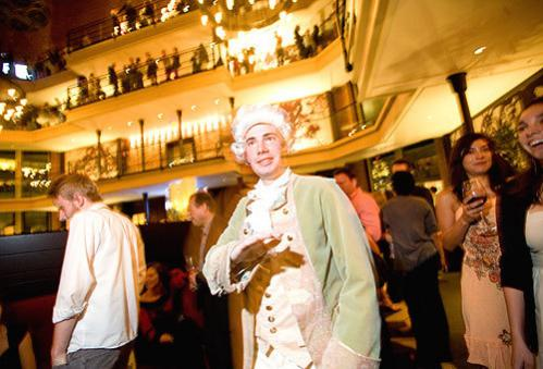 Feeling a little French? Steve Moore, dressed as Louis the XVI, made his rounds during the Bastille Day party at the Liberty Hotel.