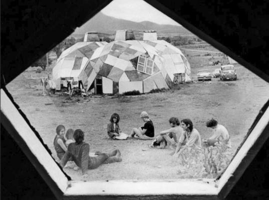 DENVER POST/FILEClark Richert (right) was one of the architects of Drop City, a series of domes built in southern Colorado in the 1960s.